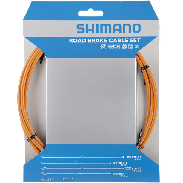 Shimano Road Bremszugset SIL-TEC beschichtet orange
