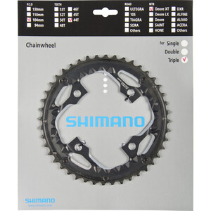 Shimano Deore XT Trekking FC-T780/FC-T781 Klinge AE 10-speed til beskyttelsesring