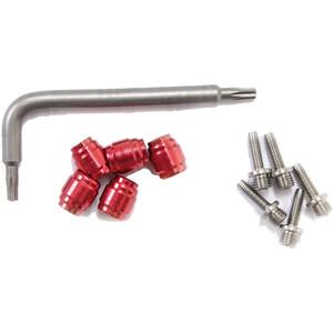 SRAM Klemmringe + Steckhülsen für Hydraulikleitung 5Pcs rot rot
