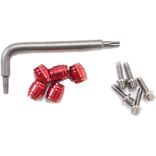 SRAM Bagues de serrage + pour câble hydraulique 5 pièces, argent/rouge