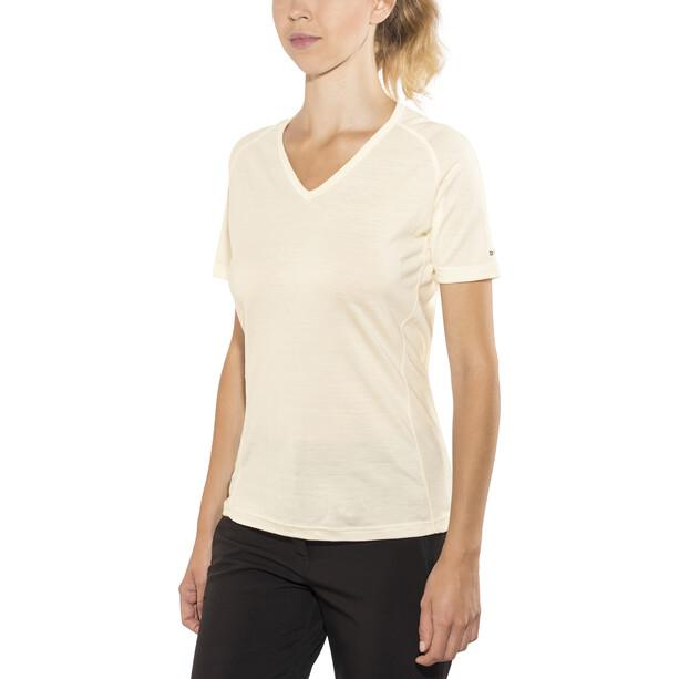 Devold Breeze V-Ausschnitt T-Shirt Damen offwhite