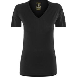 Devold Breeze V-Ausschnitt T-Shirt Damen schwarz schwarz