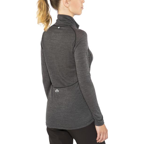 Devold Running Zip Kragen Langarmshirt Damen anthracite