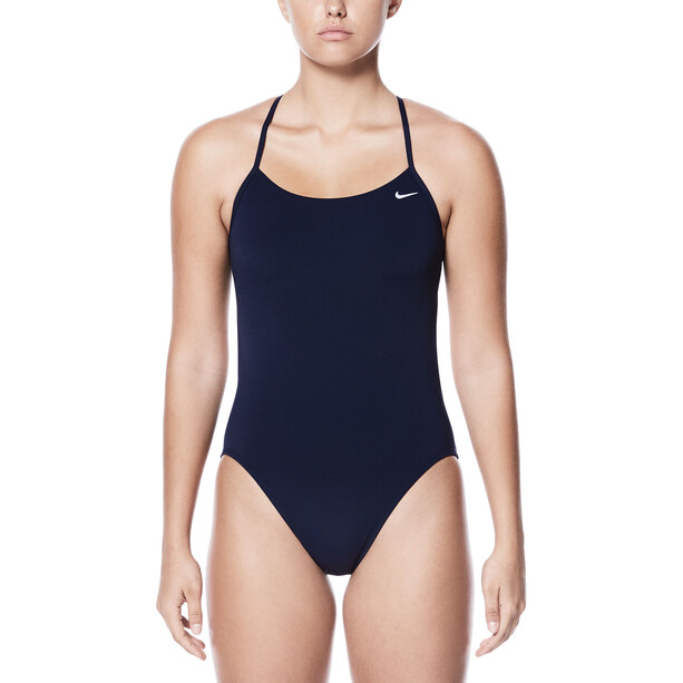 Nike Swim Poly Core Solid Cut-Out One Piece Damen midnight navy