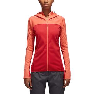 PYUA Crest S Hooded Zipper Damen grapefruit/jester red grapefruit/jester red