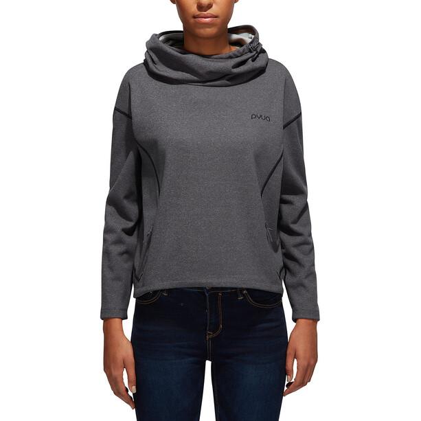 PYUA Tube S Kapuzensweater Damen grey melange