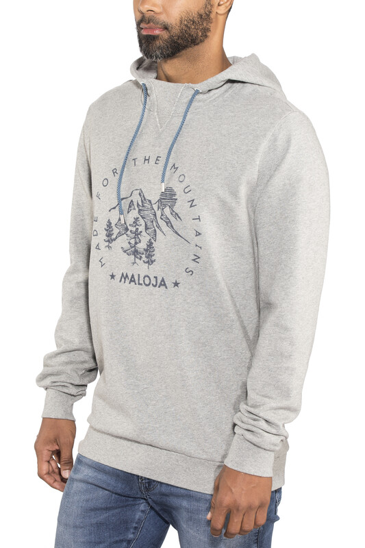 Maloja IsaacM. Sweat Hoody Men grey melange L 2018 Sweatshirts & Trainingsjacken