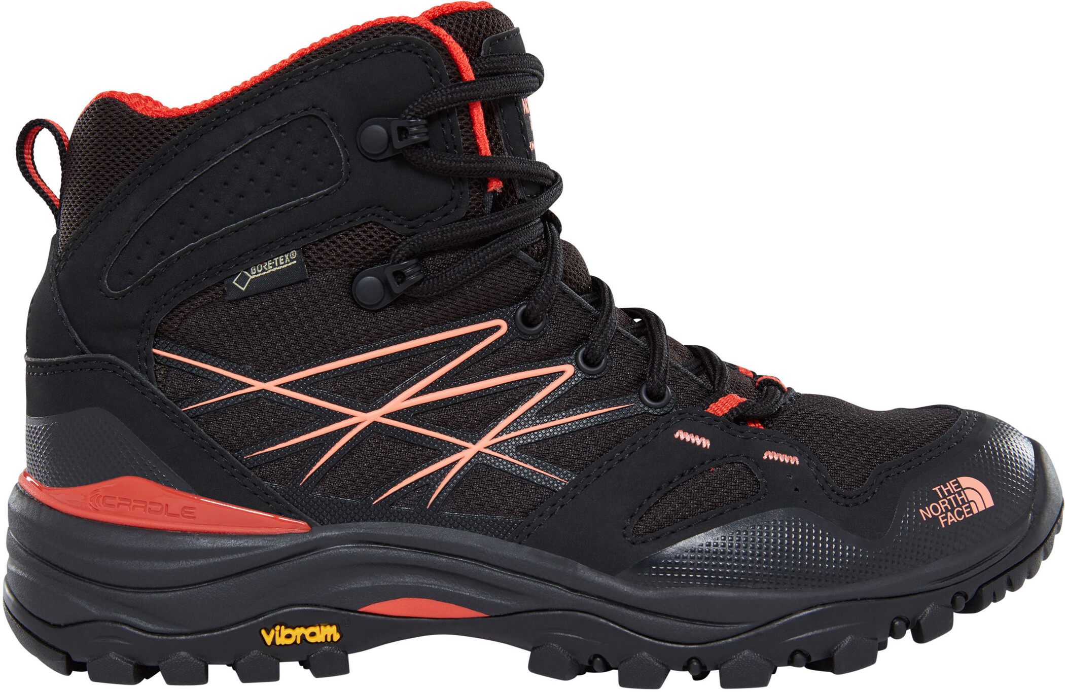 The North Face Hedgehog Fastpack Mid GTX Schuhe Damen tnf blackfire brick red