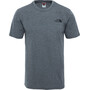 The North Face Simple Dome Kurzarm T-Shirt Herren grau