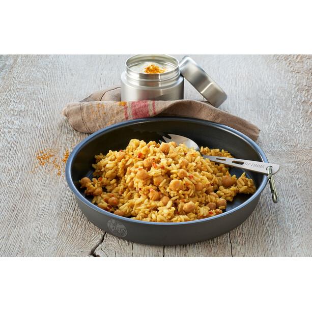 Trek'n Eat Outdoor Mahlzeit Vegetarisch Chana Masala Indischer Kichererbsen-Reistopf