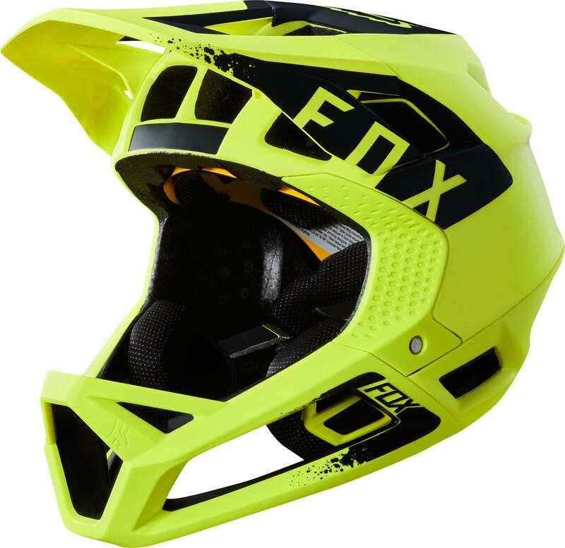 Fox Proframe Mink Helmet Men yellow/black L   58-61cm 2018 Fahrradhelme