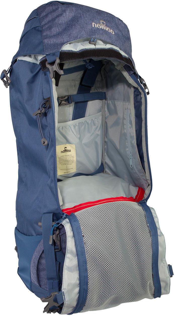 nomad sahara sac dos femme 65l bleu sur. Black Bedroom Furniture Sets. Home Design Ideas