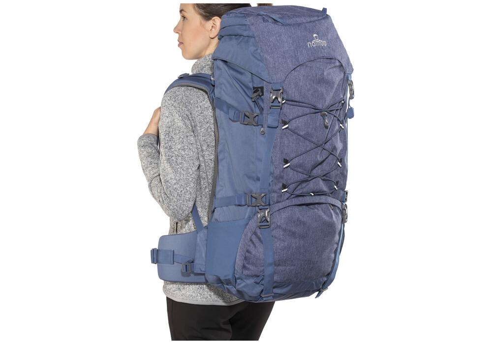 nomad sahara sac dos femme 55l bleu sur. Black Bedroom Furniture Sets. Home Design Ideas