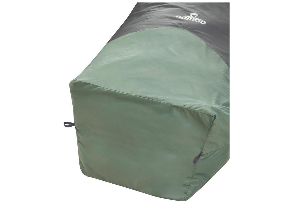 nomad cape lite 2 sac de couchage gris vert sur. Black Bedroom Furniture Sets. Home Design Ideas