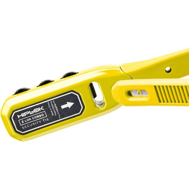 Hiplok Z-Lok Attache de câble 50cm 3 chiffres, yellow