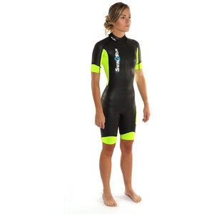 Dare2Tri Swim&Run Go Wetsuit Damen black/yellow black/yellow