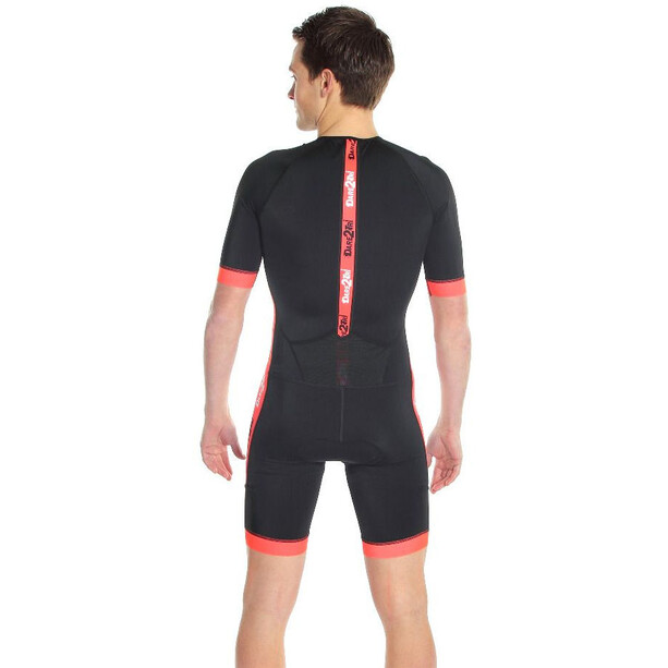Dare2Tri Coldmax Kurzarm Trisuit Herren black/red