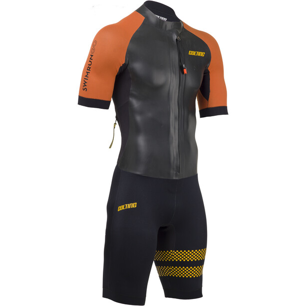 Colting Wetsuits Swimrun Go Wetsuit Herren schwarz/orange