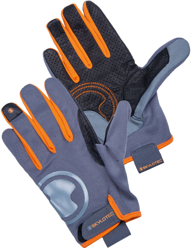 Skylotec KS Gloves Full Finger anthracite/orange/black S 2018 Klettersteighandsc