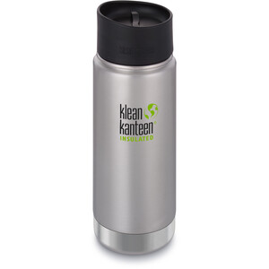 Klean Kanteen Wide Vacuum Insulated Flasche Café Cap 2.0 473ml brushed stainless brushed stainless