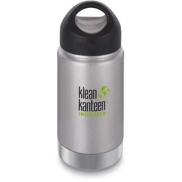 Klean Kanteen Wide Vacuum Insulated Flasche Stainless Loop Cap 355ml silber