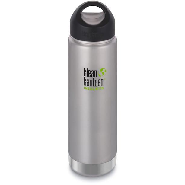 Klean Kanteen Wide Vacuum Insulated Flasche Stainless Loop Cap 592ml brushed stainless