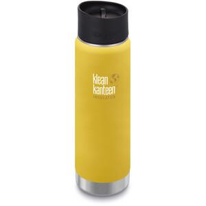 Klean Kanteen Wide Vacuum Insulated Gourde Bouchon Café 2.0 592ml, jaune jaune