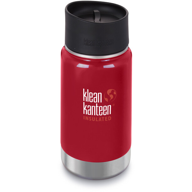 Klean Kanteen Wide Vacuum Insulated Flasche Café Cap 2.0 355ml mineral red