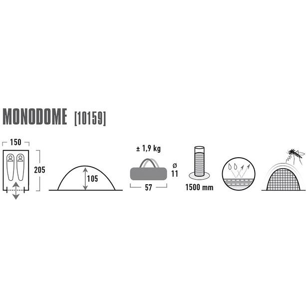 High Peak Monodome Zelt blue/grey