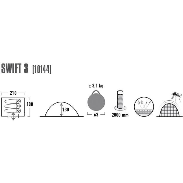 High Peak Swift 3 Teltta, phantom/green