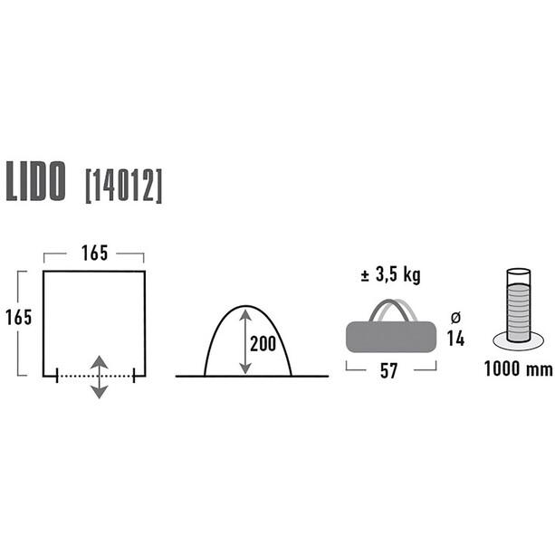 High Peak Lido Multifunktionales Zelt light grey/dark grey/blue
