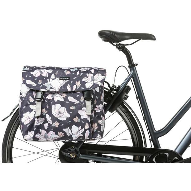 Basil Magnolia Sacoche vélo double 35l, bleu