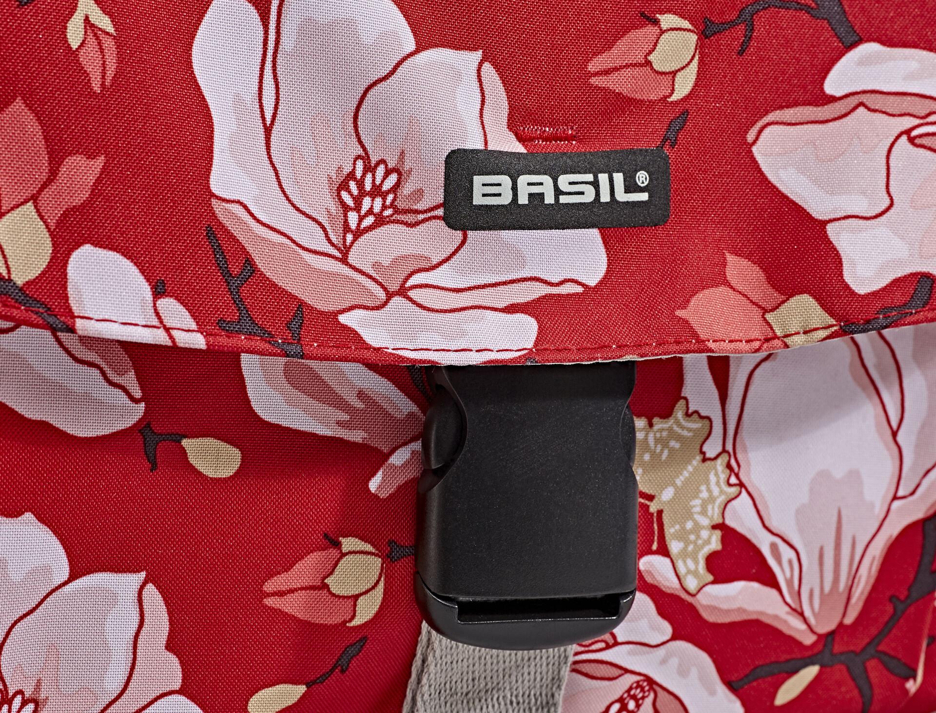 Basil Doppeltasche MAGNOLIA S DOUBLE BAG 25L poppy red Fahrrad