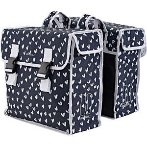 Basil Mara XL Double Pannier Bag 35l, noir/blanc noir/blanc