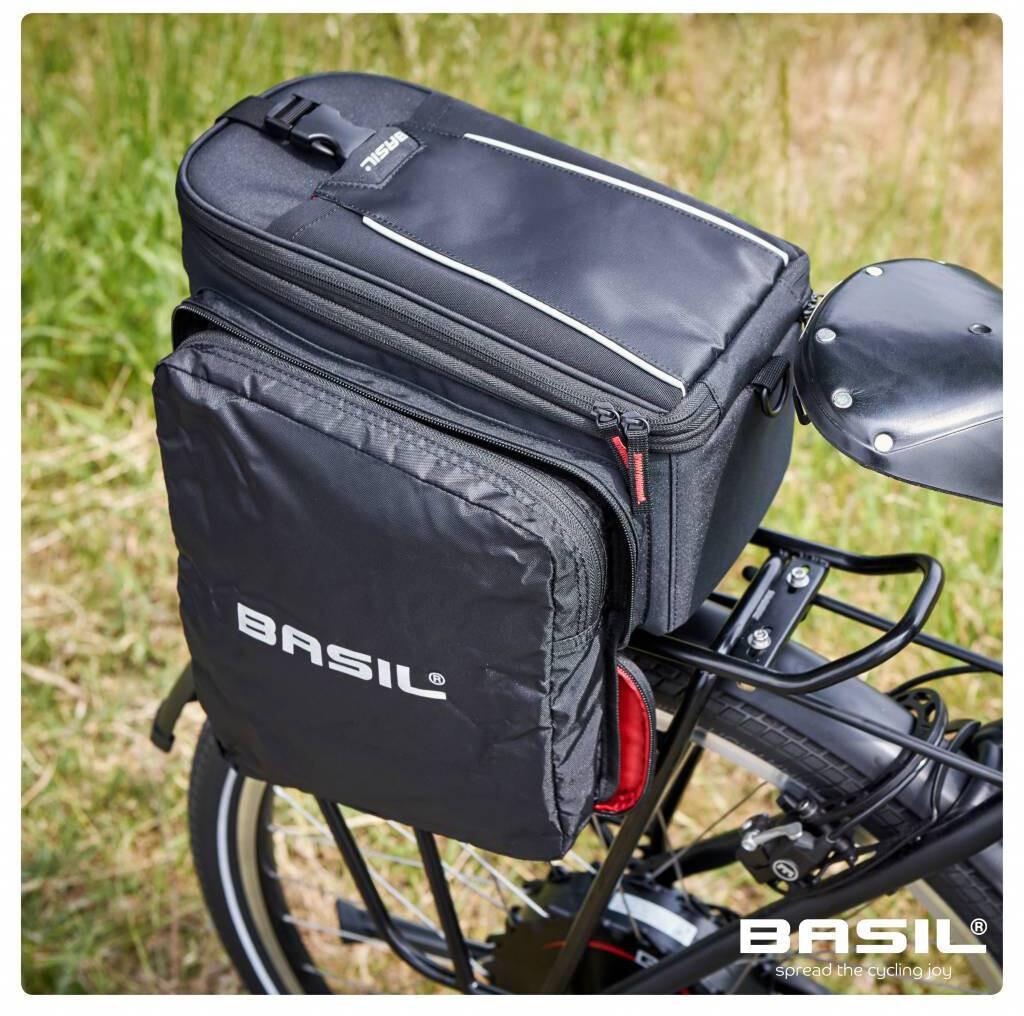 Basil Gepäckträgertasche MILES TRUNKBAG 7L black lime Fahrrad