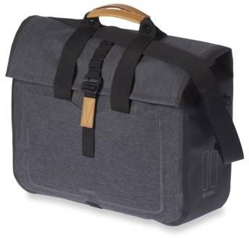 Basil Urban Dry Business Gepäckträger Tasche 20l charcoal melee  2018 Gepäckt