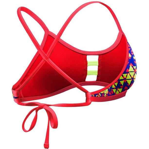 TYR Modena Pacific Tieback Bikini Top Damen red/yellow
