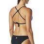 TYR Solid Crosscut Tieback Bikini Top Dam blå