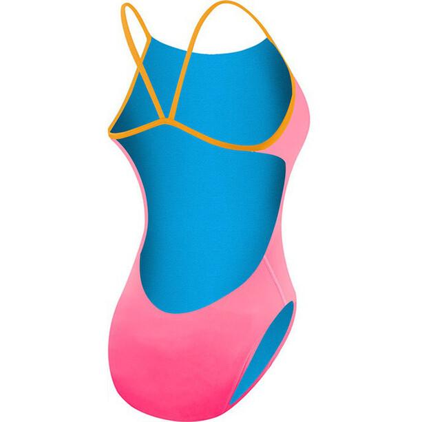 TYR Solid Cutoutfit Badeanzug Damen fluo pink/orange