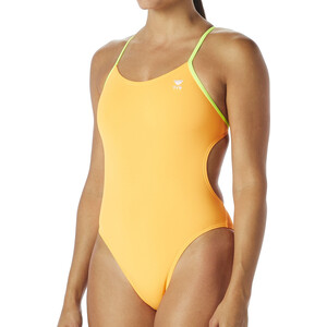 TYR Solid Cutoutfit Badeanzug Damen fluo orange/yellow fluo orange/yellow