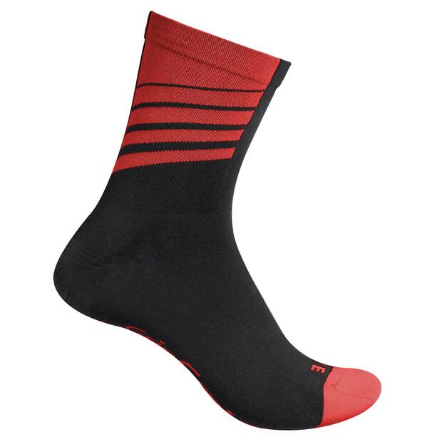 GripGrab Racing Stripes Socken black/red