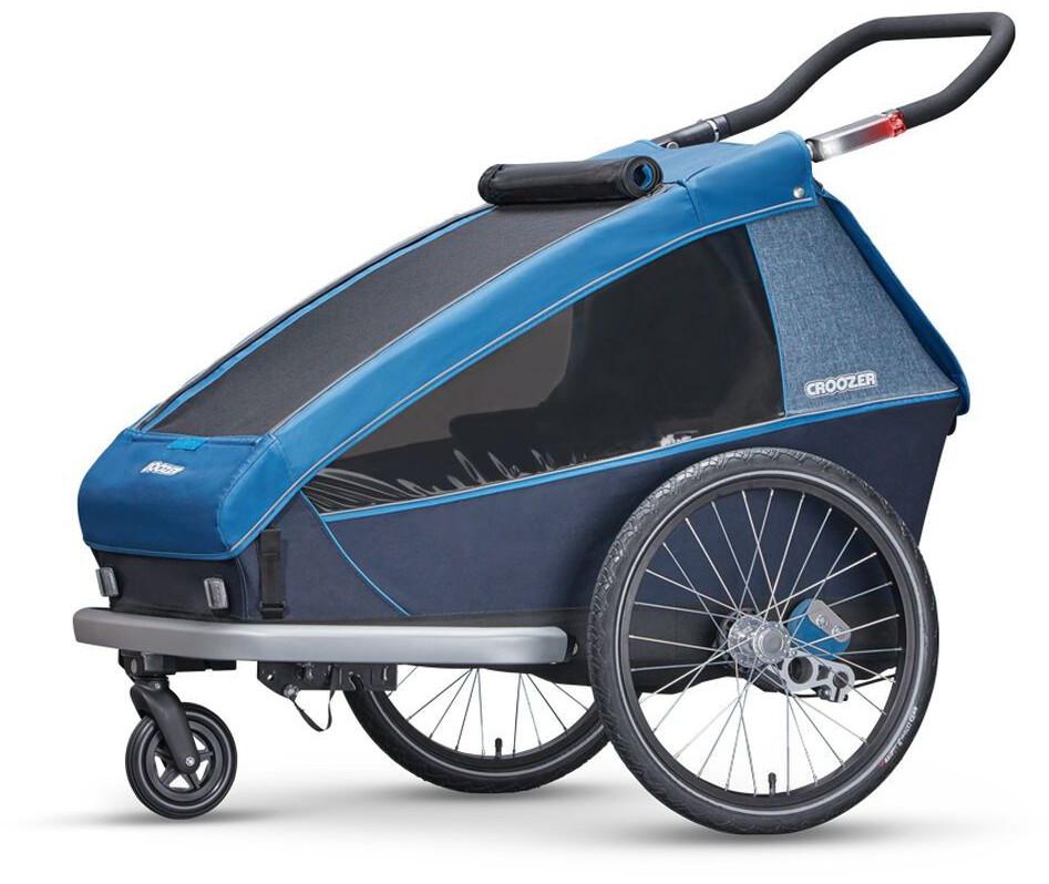 croozer kid plus for 2 fahrradanh nger ocean blue online. Black Bedroom Furniture Sets. Home Design Ideas
