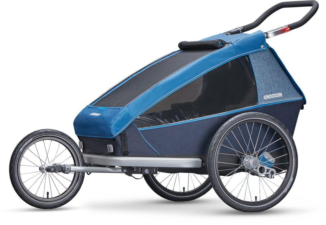 croozer kid plus for 2 fahrradanh nger ocean blue. Black Bedroom Furniture Sets. Home Design Ideas