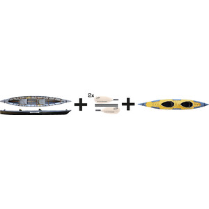 Pakboats Puffin Saranac Kajak Jubiläumspaket yellow/black yellow/black