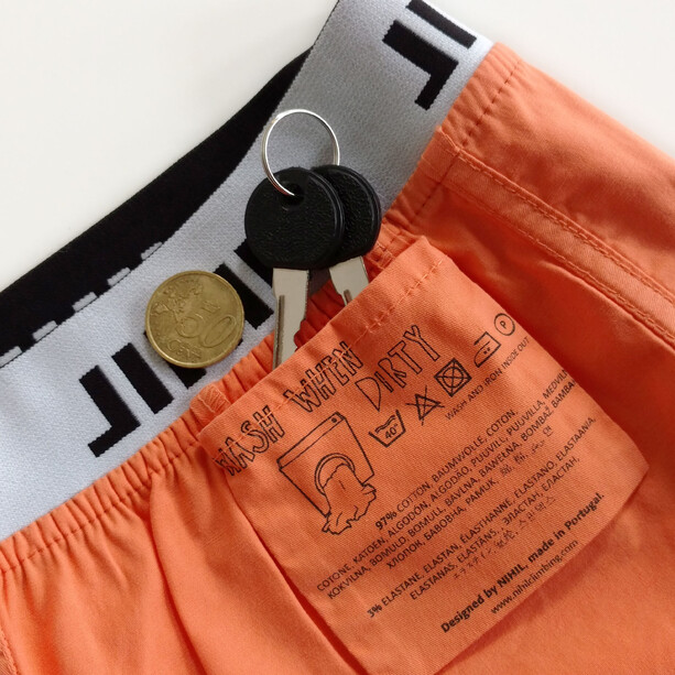 Nihil Oasis Shorts Dam orange flamingo