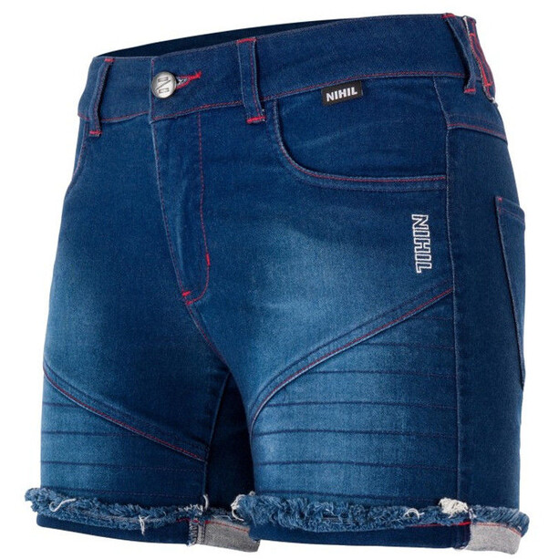 Nihil Bien Zen Shortsit Naiset, blue denim