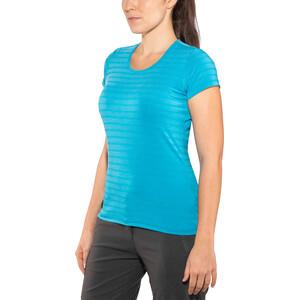 Mountain Equipment Groundup T-Shirt Damen digital blue stripe digital blue stripe