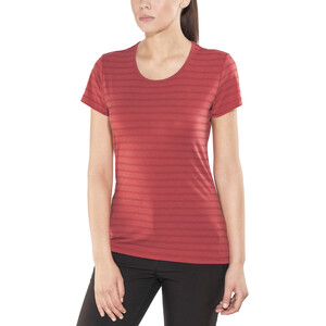 Mountain Equipment Groundup T-Shirt Damen poppy stripe poppy stripe