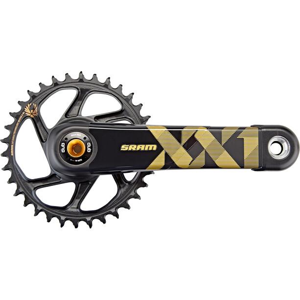 SRAM XX1 Eagle 148 DUB Crank Set DM 34 teeth 12-speed boost svart/guld