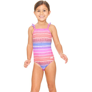 Zoggs Ikat Frill Classicback Swimsuit Jenter